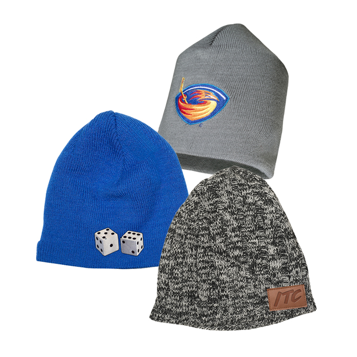 Custom Beanies | Promotional Knit Hats | Logo Printed Fleece Headbands & Winter Hats