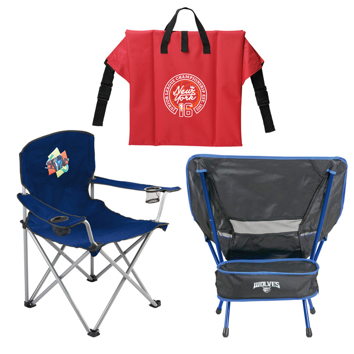 Custom Folding Chairs, Promotional Camp Chairs, Personalized with Logo