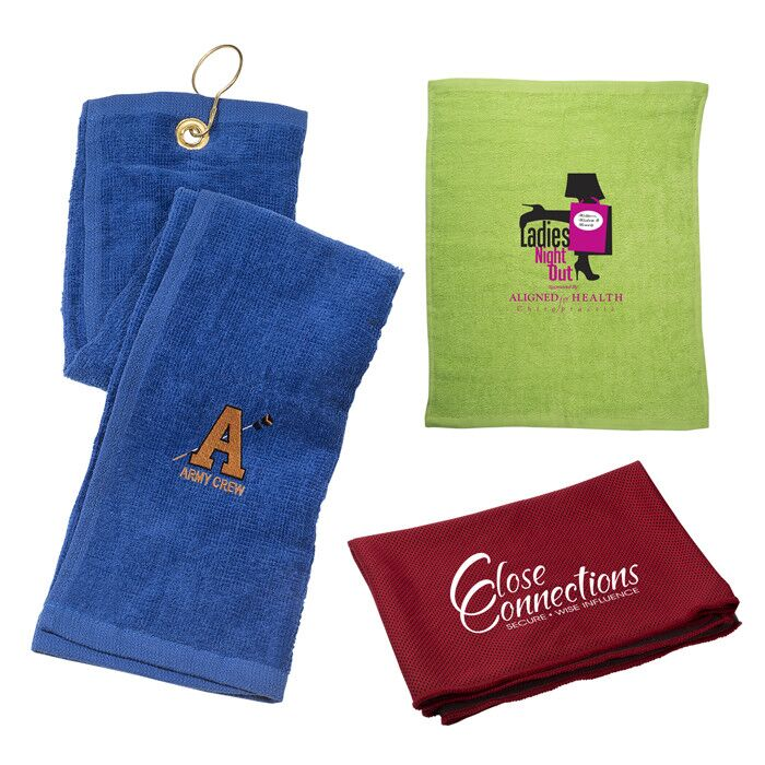 Custom Printed & Embroidered Towels with Company Logo | Promotional Items