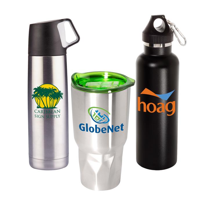 Custom Vacuum Bottles | Personalized Carafes | Promotional Logo Drinkware