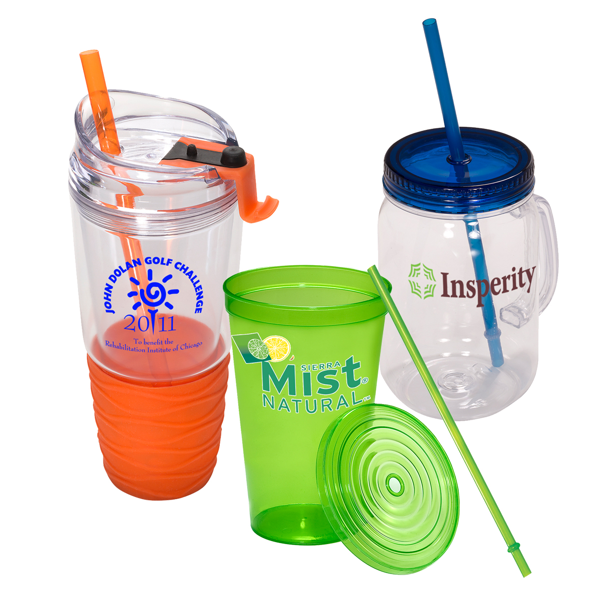 Personalized Tumblers with Straws | Custom Promotional Tumbler Cups