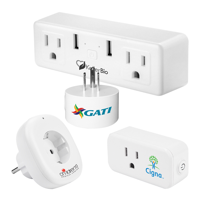 Custom WiFi Smart Home Plugs, Smart Sockets, Video Doorbell, Branded with Company Logo