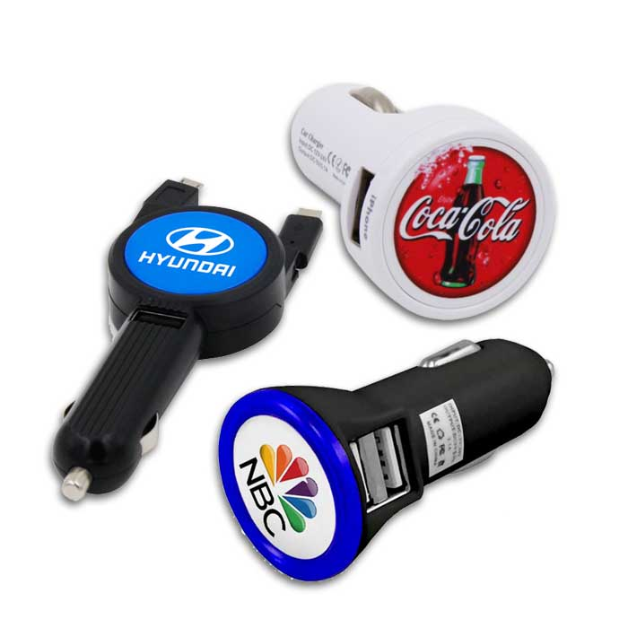Custom Promotional USB Car Charger | Automotive Promotional Products | Branded Car Charger