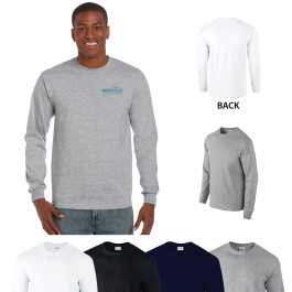 Gildan® Ultra Cotton® Classic Fit Adult Long Sleeve T-Shirt - 6 oz. - Domestic Inventory