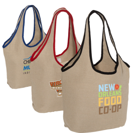 "Soft Touch Juco Shopper Bag - 17.5""w x 12.5""h x 6""d  - Domestic Inventory"
