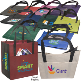 "Metro Enviro-Shopper Non-Woven Tote Bag - 13""w x 15""h x 10""d - Domestic Inventory"