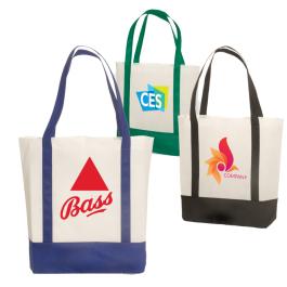 """Harborside Non-Woven Tote Bag - 16.75""""w x 15""""h x 4.75""""d - Domestic Inventory"""