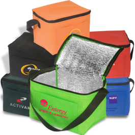 """Insulated Lunch Tote Bag -  8""""w x 6""""h x 6""""d - Domestic Inventory"""