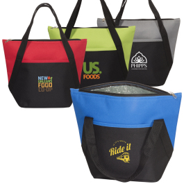 "Lunch Size Cooler Tote - 13"" W x 10.25"" H x 6"" D - Domestic Inventory"
