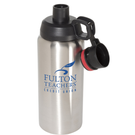 Double Wall Stainless Steel Vacuum Bottle - 33 oz. - Domestic Inventory