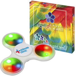 PromoSpinner™ - Light Up with Custom Box   - Domestic Inventory