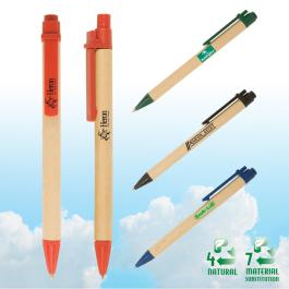 Eco-Green Paper Barrel Pen  - Domestic Inventory