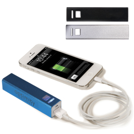 Portable Metal Power Bank Mobile Charger (UL Certified) - 2200mAh - Domestic Inventory
