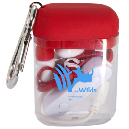 Budget Bluetooth® Earbuds in Carabiner Case  - Domestic Inventory