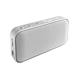 Aluminum Alloy + Faux Leather Portable Bluetooth Speaker