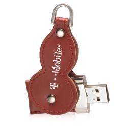 Leather Swivel USB Flash Drive 4 GB
