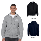 Gildan® Heavy Blend™ Classic Fit Adult Full Zip Hooded Sweatshirt - 8 oz.