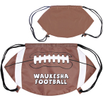 "GameTime! ® Football Drawstring Backpack - 20 1/2""w x 11 1/2""h (at widest points)"