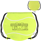 "GameTime! ® Tennis Ball Drawstring Backpack - 17""w x 14-1/2""h (at widest points)"