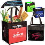 "Laminated Enviro-Shopper Bag - 12""w x 12""h x 8""d with 20"" long handles"