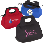 "Zippered Neoprene Lunch Tote Bag - 14-1/2""w x 10-1/2""h x 6""d"