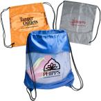 "Clear-View Drawstring Bag - 15""w x 18""h flat bag"