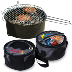 "Weekend Explorer Grill & Cooler Bag - 3.5"" tall x 10.25"" bottom dia. cooler"