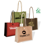 "Milan Jute Tote Bag - 18""w x 14""h x 5-1/2""d with 25"" long handles"