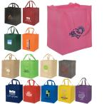 "Heave-Duty Jumbo Enviro-Shopper Non-Woven Tote Bags - 13""w x 15""h x 10""d"