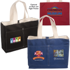 "Tacoma Canvas Tote Bag - 16""w x 12-1/2""h x 4-3/4""d"