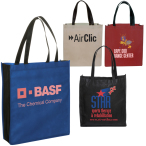 "Two-Tone Non-Woven Tote Bag - 14-1/2""w x 16""h x 4""d"