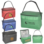 "6 Pack Tonal Non-Woven Cooler Bag - 10"" W x 6"" H x 5.5"" D"