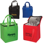 "Non-Woven Cubic Lunch Bag W/ ID Slot - 8"" W x 8.5"" H x 6"" D"