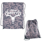 "Digital Camouflage Rpet Drawstring Cinch Up Backpack - 14.5"" W x 17.5"" H x .125"" D"