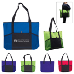 "Jumbo Tradeshow Tote with Front Pockets - 18"" W x 13.25"" H x 3"" D"