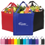 "Saturn Jumbo Non-woven Grocery Tote - 13"" W x 15"" H x 10"" D"