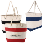 "Cotton Resort Tote w/ Rope Handle - 18.75"" W x 12.75"" H x 6.75"" D"