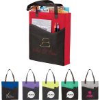 "Rivers Pocket Non-Woven Convention Tote - 17"" H X 15"" W X 3"" D"