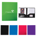 "2 Pocket Folder With Business Card Slots - 9.44"" w x 11.44"" h x 0.06"" d"