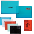 "PP Zip-Closure Envelope With Business Card Slot -13.25"" w x 9.5"" h x 1"" d"