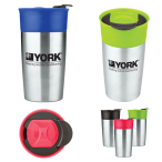18 Oz. Two-Tone Double Wall Insulated Tumbler.