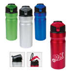 24 Oz. Aluminum Water Bottle With Flip Up Lid