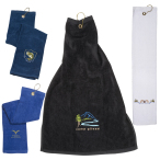 "Tri-Fold Golf Towel - 25"" l x 16"" w"