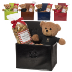 Tuscany™ Notebook, Teddy Bear & Popcorm Set - Tan
