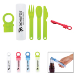 Plastic Utensil Set With Bottle Opener