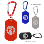 Dog Tag Carabiner Key Chain