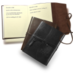 "Americana Leather-Wrapped Journal Notebook - 5.25""w x 6.75""h x 0.5""d"