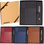 Duo-Textured Tuscany™ Journal Notebook & Pen Gift Set