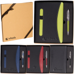 Naples™ Two-Tone Journal Notebook & Pen Gift Set