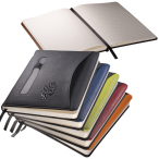 "Naples™ Two-Tone Journal Notebook - 5.75""w x 8.25""h x 0.63""d"